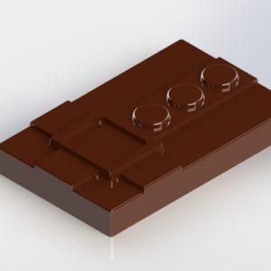 Forma e Molde para fazer barras de chocolate
