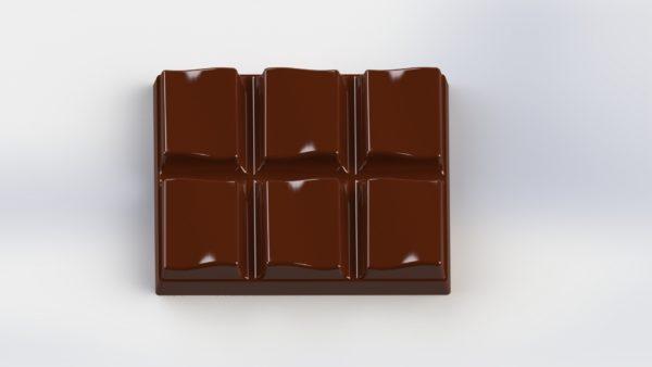 Forma e Molde para fazer mini barras de chocolate